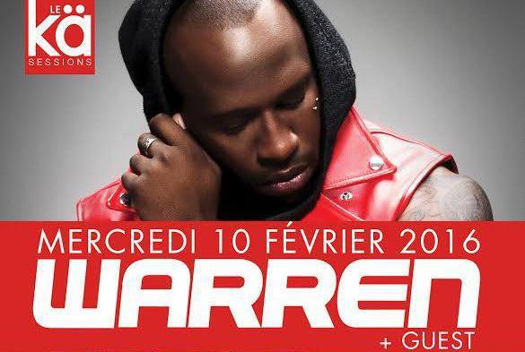 Gagne ta place pour le concert de Warren mercredi 10 février