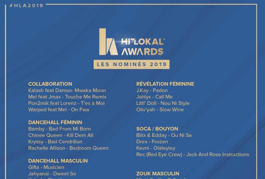 Hit Lokal Awards 2019 : La liste complète des nominés