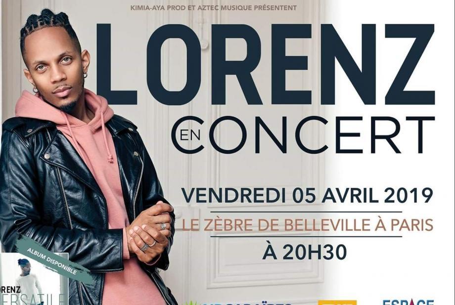 Lorenz en concert le 5 avril à Paris