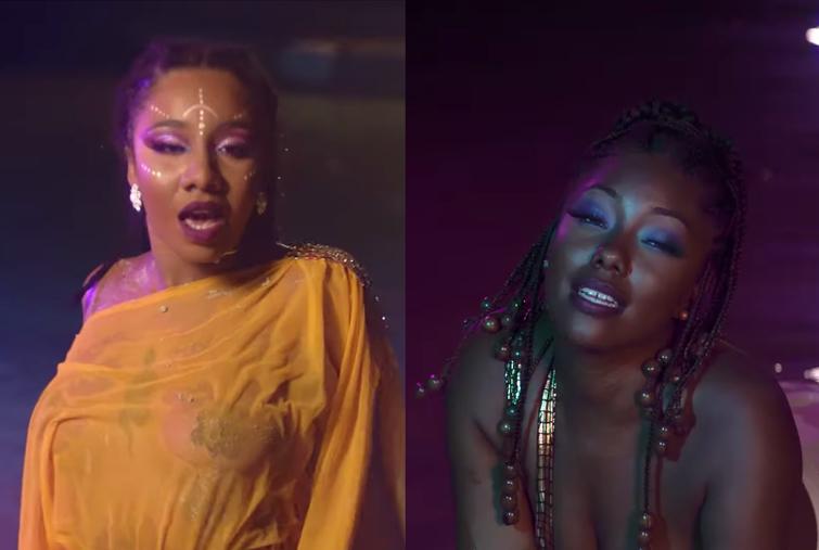 Jahlys feat Oliv'Yah, deux sirènes envoûtantes pour le clip dancehall de Naughty